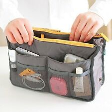 Practical Make Up Handbag Pouch Nylon Dual Organizer Insert Cosmetic Storage Bag