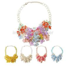 Lady Charming Jewelry Wedding Banquet Multicolor Floral Crystal Pendant Necklace