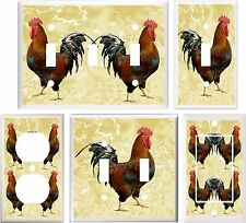 COUNTRY ROOSTER KITCHEN DECOR LIGHT SWITCH COVER PLATE OR OUTLET V863