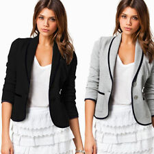 Womens Long Sleeve Button Casual Business Blazer Suit Jacket Coat Outerwear Tops