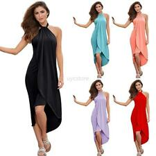 Fashion Women Summer Boho Long Maxi Evening Party Dress Beach Dresses Sundress