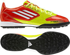 Adidas F10 TRX TF Men's Turf Soccer, Orange/Yellow/White, V24786