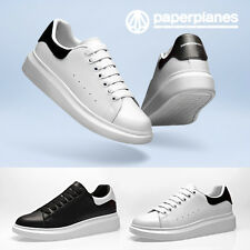 New Paperlanes PP1402 Womens Premium Leather Platform Over-Sole Fashion Sneakers
