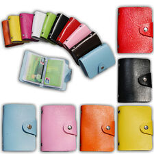 Boy Girl 24 Card ID Credit Card Holder PU Leather Pocket Purse Wallet Present
