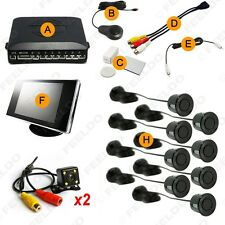 Car 8 Sensors Front&Rear View Parking Sensor Backup Radar +Monitor+ CCD Camera