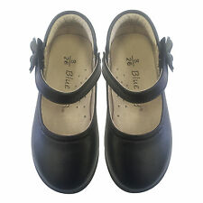 NEW Girls Mary Jane Leather Shoes Formal sz 8-13 for 3-8yr BLACK