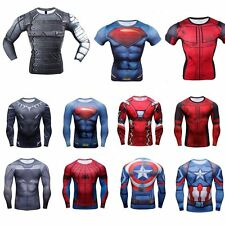 2016 Superhero Marvel Compression Top T-shirt Long Short Sleeve Tee Men T Shirt