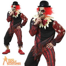 Adult Creepo the Clown Costume Halloween Horror Circus Mens Fancy Dress Outfit
