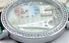 silver paris tower polymer clay watch fashion present new waterproof Gift Xmas