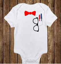 Geeky Baby Onesie - Baby Boy Clothes - Bow Tie with Glasses - Nerd Baby Awesome