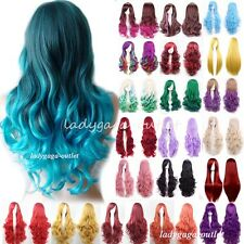 Women Cosplay Hair Wig Long Straight Wavy Curly Sexy Costume Full Wigs UPS Post
