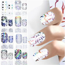 Shiny Nail Art Stickers Water Decals Nail Transfers Wrap Flower Floral Leopard