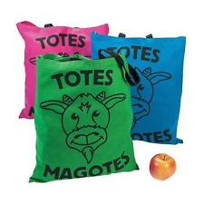 "COOL LARGE MAGOTES ""TOTE MY GOAT"" THEME 15"" x 17"" CANVAS NOVELTY TOTE BAGS"