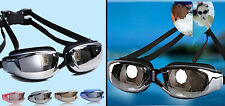 Pro No Fog Waterproof UV Protection Silica Gel Adjustable Swimming Pool Goggles