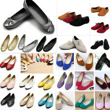 2016 Womens Casual Ballet Slip on Flats Shoe Loafers Boat Single Shoes Size 4-10