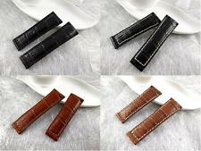 Genuine Alligator skin Band.Strap.Bracelet Rolex Daytona replacement,Brown/Black