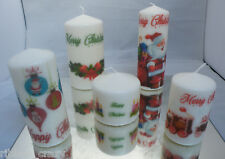 Set of 5 Christmas Candles different sizes - can be personalised