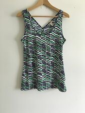 Banana Republic Blue Green White Vest Top Summer Size M