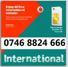 Gold VIP easy to remember unique mobile number  0746 8824 666 Vodafone PAYG
