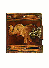 Elephant Decoration Handmade Refillable Leather Journal / Diary / Notebook