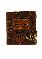 Embossed Eye Mask Vintage Handmade Refillable Leather Journal / Diary / Notebook