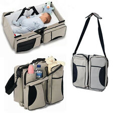 3 in 1 Muli-Purpose Travel Bassinet Diaper Bag Change Station Baby Tote Bag Bed
