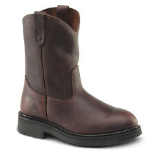 """New Mens Brown 10"""" Roper Leather Steel Toe Work Boots BAT-107 Size 6-12 (D, M)"""