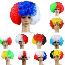 world cup Football Fans Games Supplies Afro Wig Fancy Dress Costume Cosplay SPUS