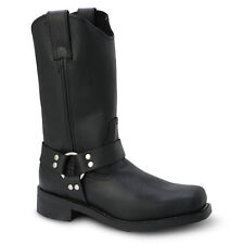 """Mens Black 12"""" Harness Boot Leather WP Work Boots BONANZA 120 Size 6-12 (D, M)"""