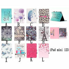 New Stand Cards Wallet PU Leather Cover Flip Luxury Case For ipad mini 1 2 3