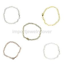 6pcs Lobster Claw Clasp Bracelets Link Chain DIY Making Jewelry Design Gift