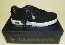US POLO ASSN MENS PHASE LO X BLACK SILVER SHOES SNEAKERS NEW IN BOX SYNTHETIC