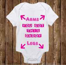 "Pink ""Instructions for Dad"" Onesie - Cute Baby Girl clothes Newborn Funny"