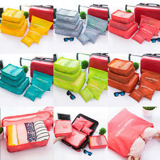 6Pcs Waterproof Clothes Storage Bags Packing Cube Travel Luggage Organizer Bag