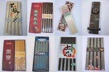 TWO pairs korean Chinese Japanese Chopsticks kitchen lunch wood stainless 2 pair