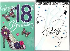 Male/Female Age 18/18th Birthday Card