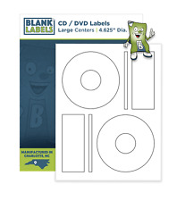 Memorex Compatible CD / DVD Labels Laser Ink Jet Blank White Sheets Large Core