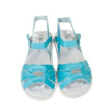 NEW Kids' coast leather sandals in turquoise Girl's by SKEANIE