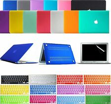 "Matte Hard Case Keyboard Skin Cover Screen Protector Film F MacBook Air 11"" 13"""