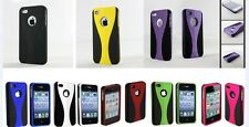 3-PIECE DUAL COLOUR HARD CASE COVER SKIN FOR APPLE IPhone 4 4S 4G (8 colors)