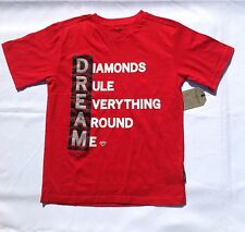 "Boys New BLAC LABEL Big Boys' ""Diamonds Real Everything Around Me"" T-Shirt Red"