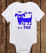 Adorable Baby Boy Onesie - My Big Brother is a Dog - Puppy/Dog - Cute ALL COLORS