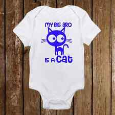 Adorable Baby Boy Onesie - My Big Brother is a Cat - Kitty - Cute Baby Shower