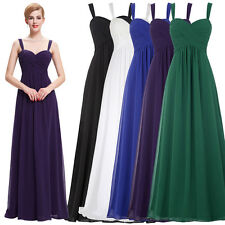 New WOMEN Long Chiffon Bridesmaid Dress Cocktail Formal Evening Party Prom Gowns