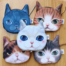 3D New Animal Cute Cat Face Zipper Case Coin Women Girls Purse Wallet Bag Pouch