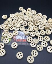 50 100 NATURAL WOOD FOUR HOLES BUTTONS SCRAPBOOKING SEWING JEWELLERY SHABBY CHIC