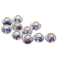 10Pcs Lampwork Resin Glass Beads For Silver Charms European Bracelet hot