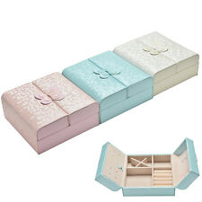 PU Leather Jewelry Jewellery Gifts Storage Display Organizer Case Boxes Box GT