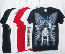 Gothic T-Shirt Designs -Death, Skull, Wings & Redemption, SZ S-L, Silk-Screened