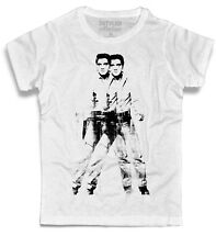 Men's T-shirt Double Elvis Andy Warhol Presley cowboy pop art so happinness